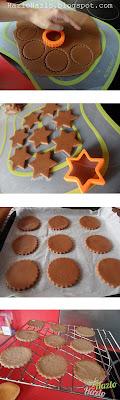 Cómo hacer galletas de cacao con cobertura.