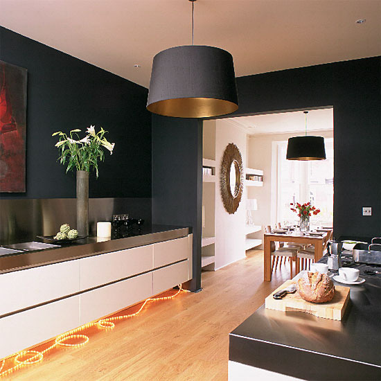 Modern Country Style: Dark And Sultry In The Kitchen Plus