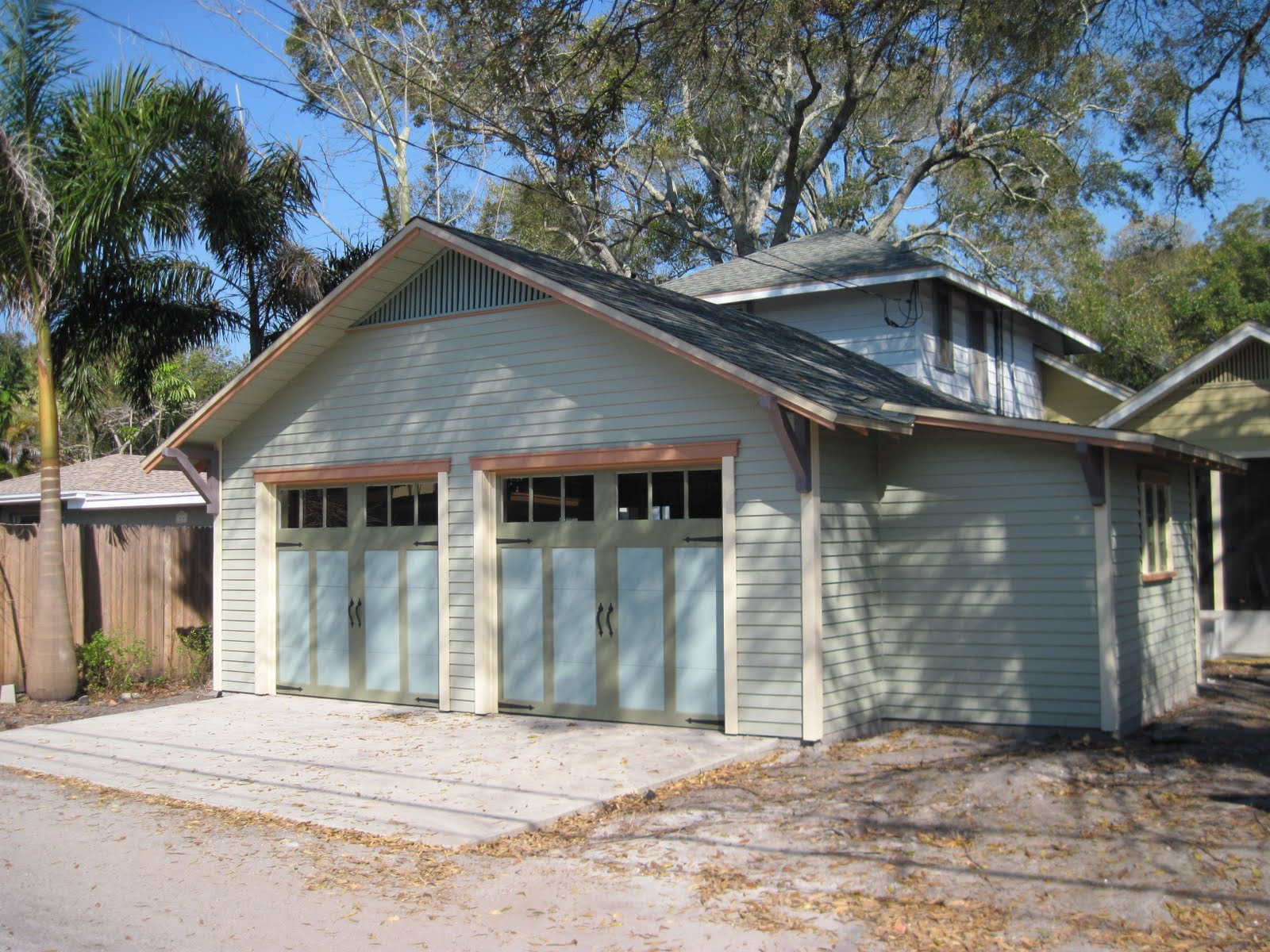 Two Car Garage With Shed Extension Historic Shed Florida