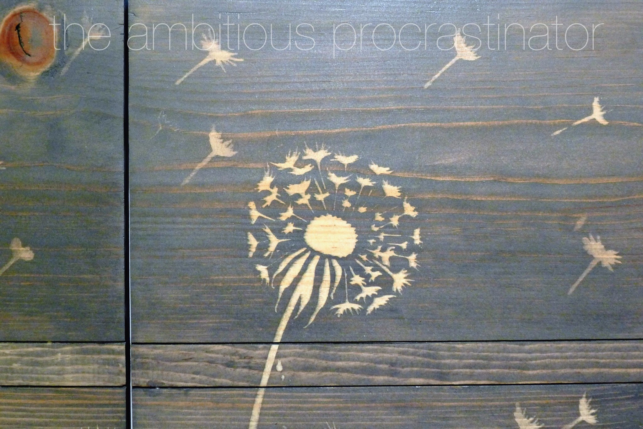 The ambitious procrastinator how to use a stencil with stain - Painting with stencils on wood ...
