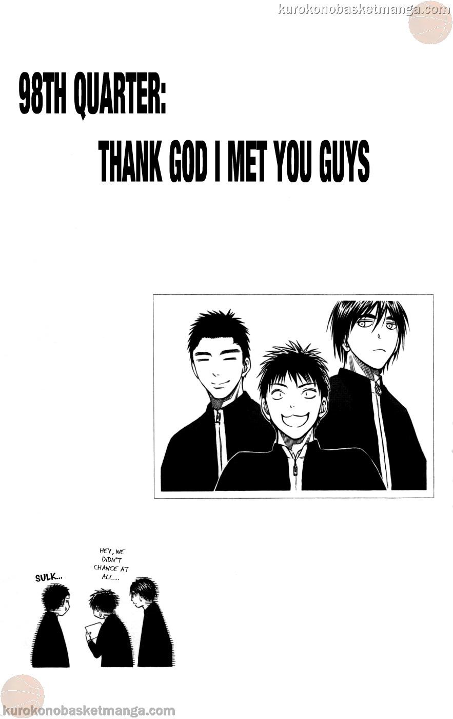 Kuroko no Basket Manga Chapter 98 - Image 01