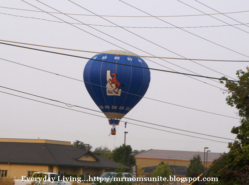 photo of the Boise State hot air balloon