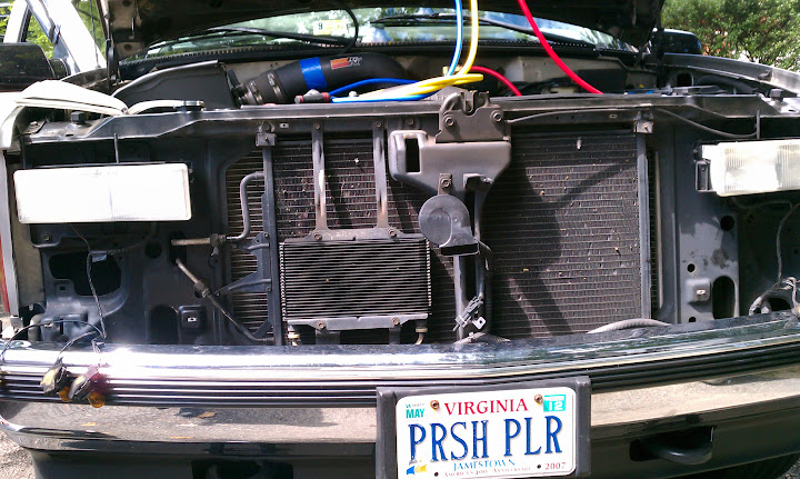 Ac Repair GM Suburbantahoesilverado Dorkiphus. After Removing The Front Of My Truck To Access Condenser And Connections Ac Hoses Pressor Rear Air Evaporator. Chevrolet. 2002 Chevy Tahoe Parts Diagram Condenser At Scoala.co