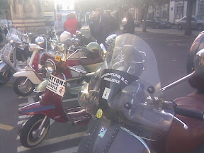 scooter club meeting with machines prior to ride out