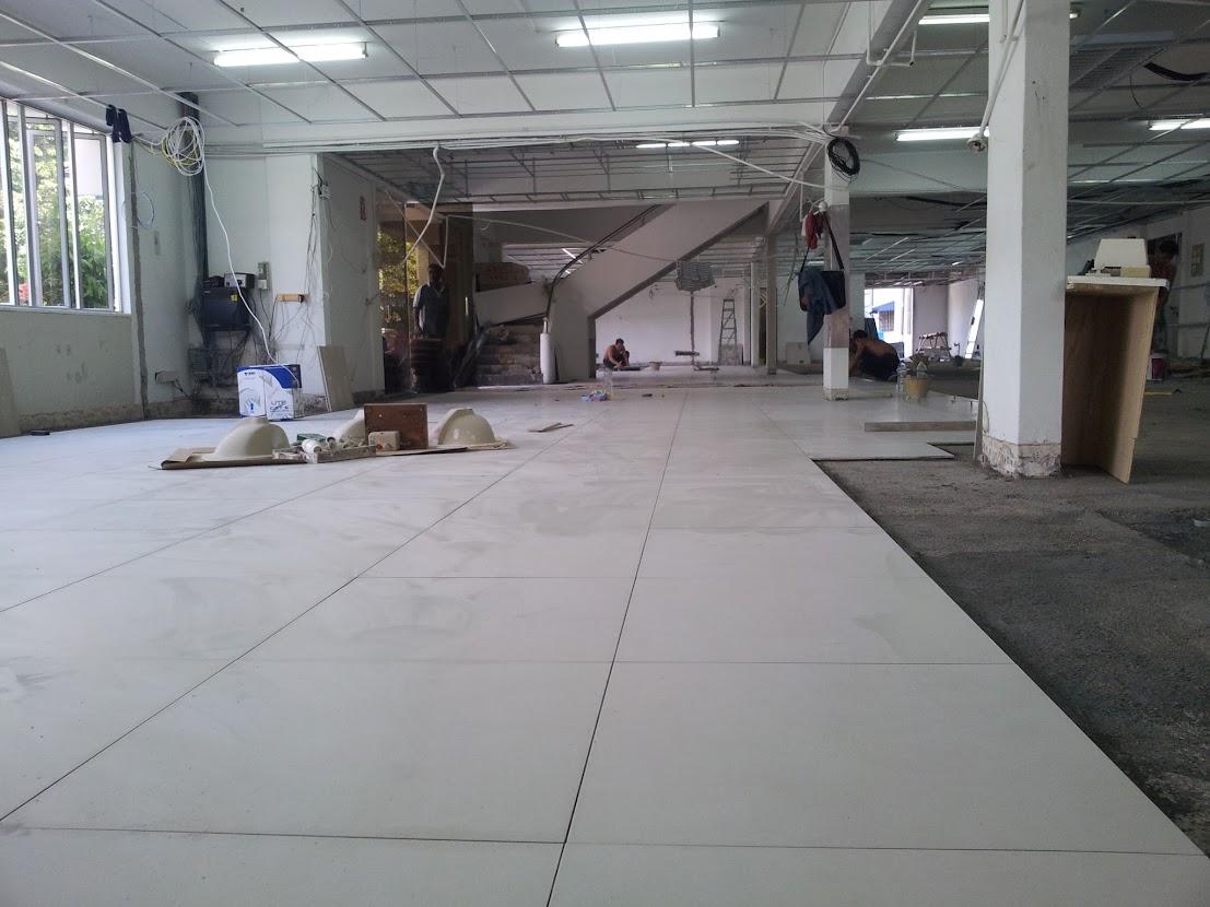 new 2' x 2' floor tiles