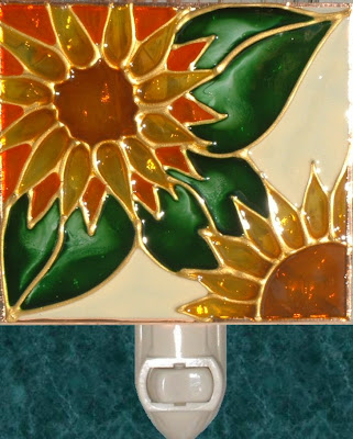 sunflower design in ivory