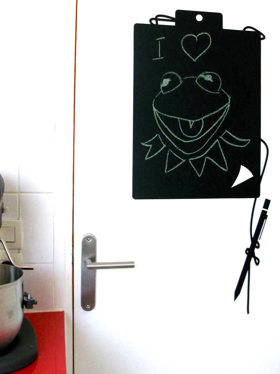 un sticker ardoise bloc note pour ne rien oublier paperblog. Black Bedroom Furniture Sets. Home Design Ideas