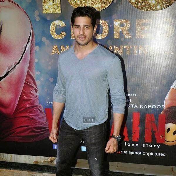 Sidharth Malhotra attends the success party of Bollywood movie 'Ek Villain', held at Ekta Kapoor's residence on July 15, 2014.(Pic: Viral Bhayani)