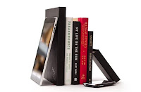 iPad with books