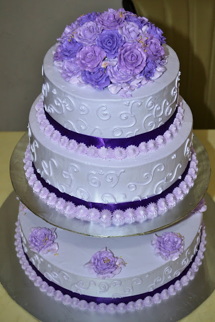 Mypu3 Cake House 3 Tier Wedding Cake Purple Theme