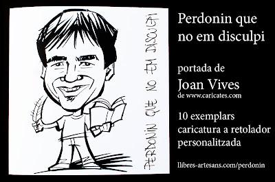 Caricatura personalitzada de Joan Vives pel llibre de contes