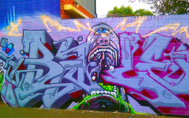 Street Art and Graffiti in Fitzroy, Melbourne