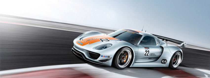 Porche 918 rsr speed facebook cover