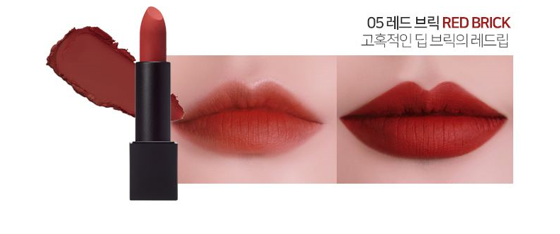 Son LUNA Realway Velvet Lipstick Red Brick