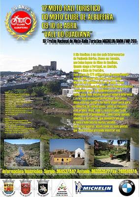12º Moto-Rali Turístico do M.C.de Albufeira-09 e 10/04/2011 Cartaz+MR+Albufeira