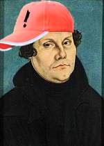 Martin Luther in baseball cap