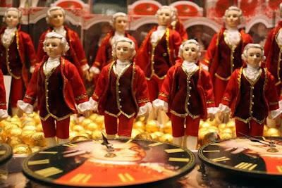 Mozartkugel for sale in Salzburg Austria