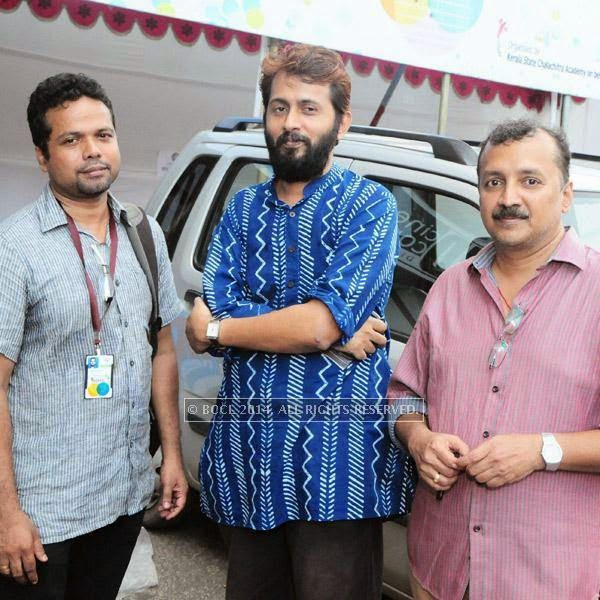 Mohan Das,K R Manoj, Raman during the  International Documentary and Short Film Festival that was held at Trivandrum.