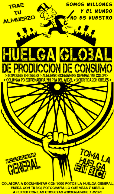#Bicienjambre General en la Huelga Global del #29M