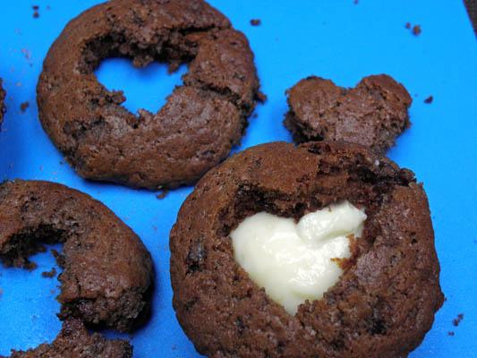 muffinki walentynkowe czekoladowe
