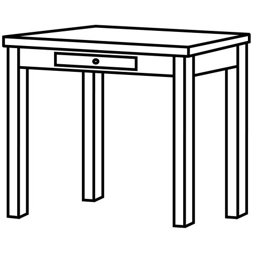 Imágenes de mesa para colorear - Imagui