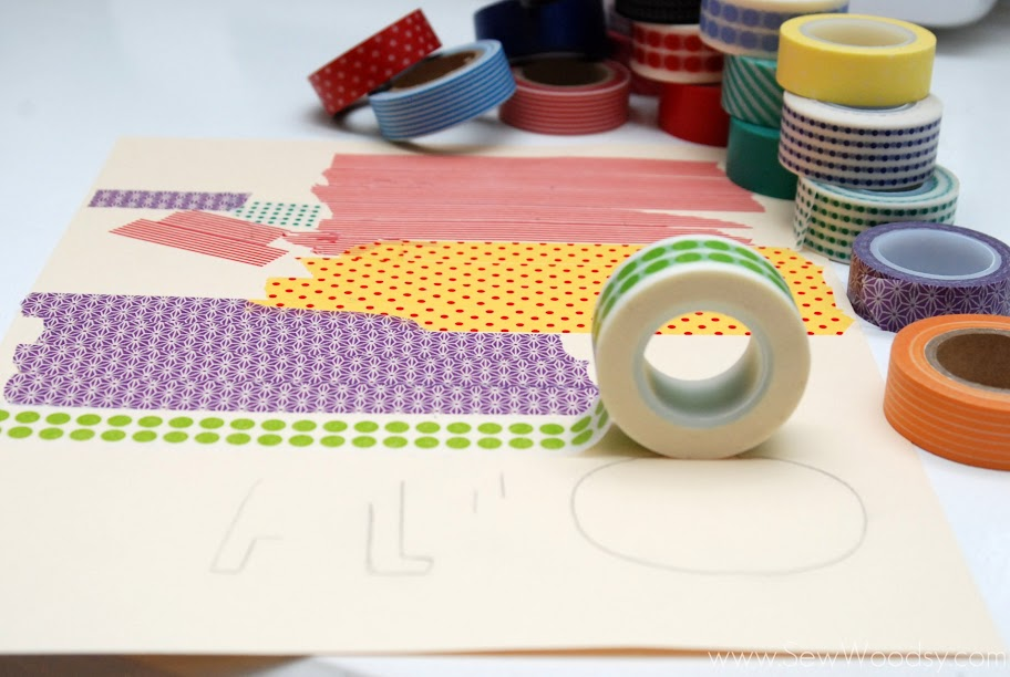 washi tape sign