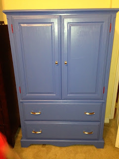 photo of after tv armoire to closet Wolfelicious