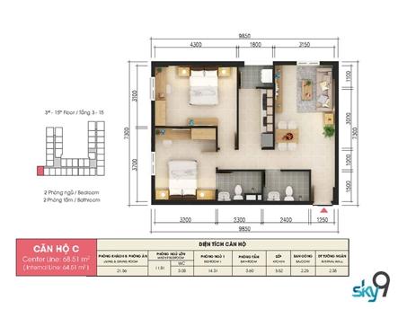 Điểm 10 cho căn hộ chung cư Sky 9