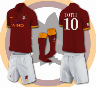 sale retailer b6631 80b41 AS Roma Kits 2013-2014 Home Away Shirts Official Release