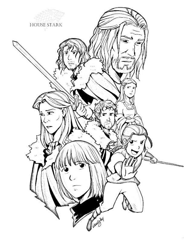 House Stark Game of thrones coloring pages