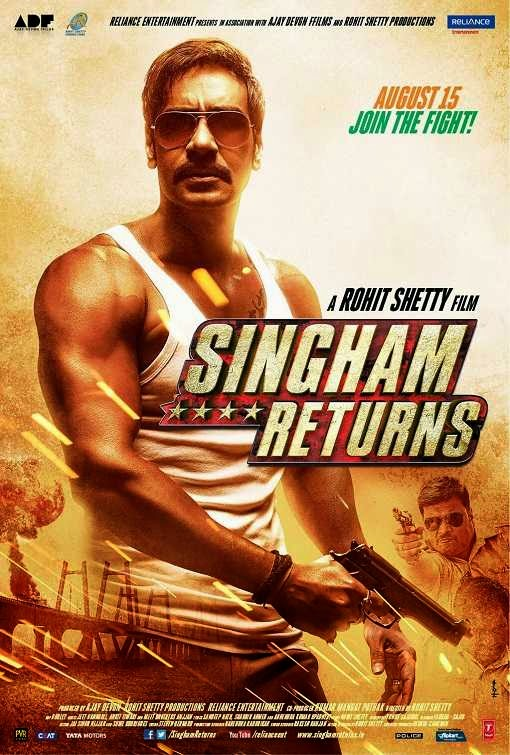 Poster Of Hindi Movie Singham Returns (2014) Free Download Full New Hindi Movie Watch Online At alldownloads4u.com