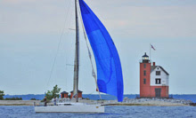 J/111 finishing off Mackinac Island finish