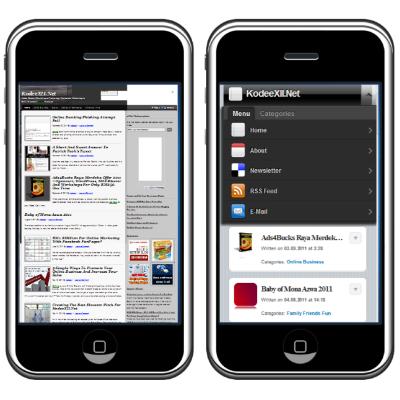 KodeeXII.Net Mobile Display