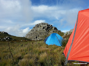 Camping under Sterrekykerskop