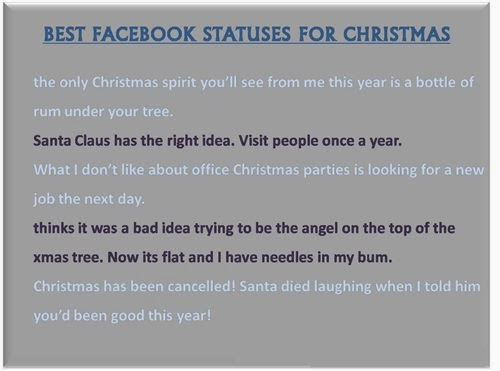 Top Funny Christmas Quotes For Facebook Status