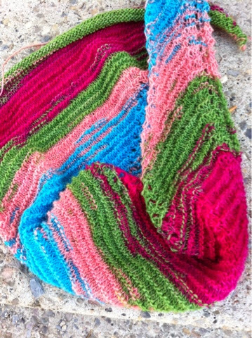 Fruit Salad - Sixty Bushels Shawl - Crescent Moon Collective