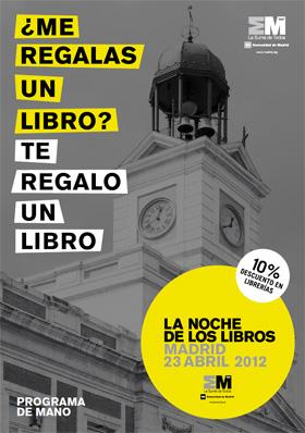 Programa completo de La Noche de los Libros 2012