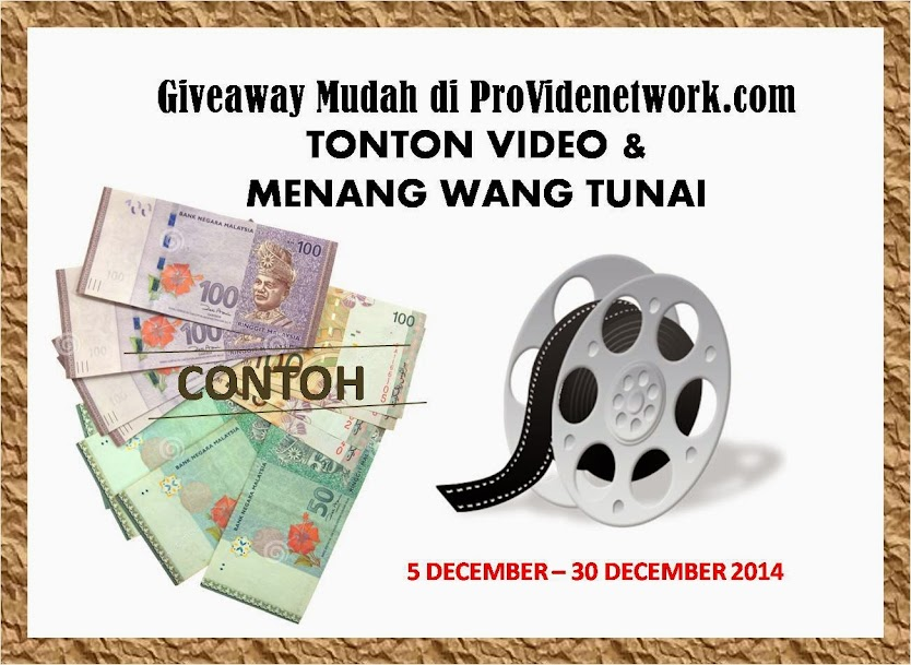 tonton video & menang wang tunai