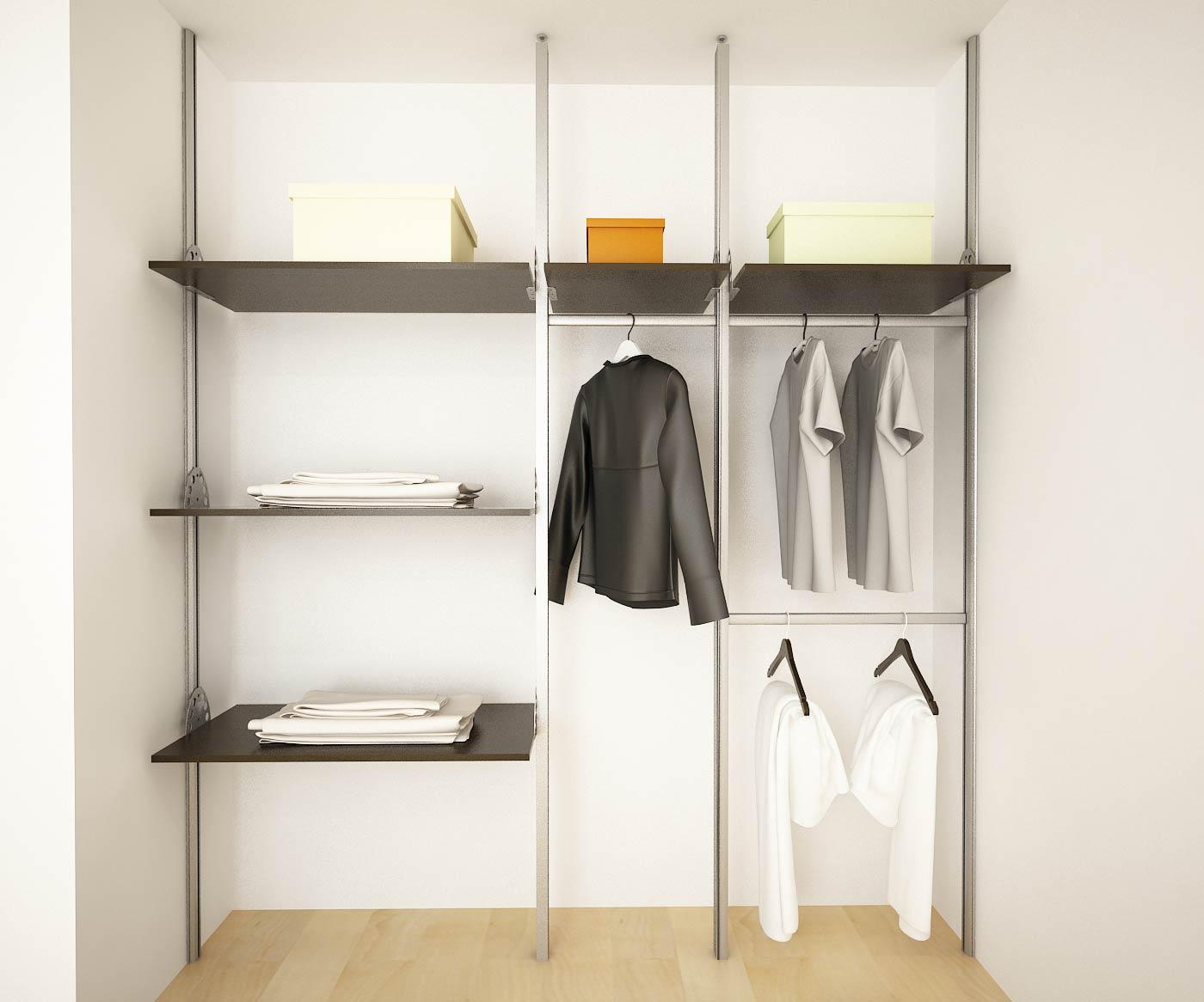 Orbis home closets modulares closets linea status for Puertas para closet minimalistas