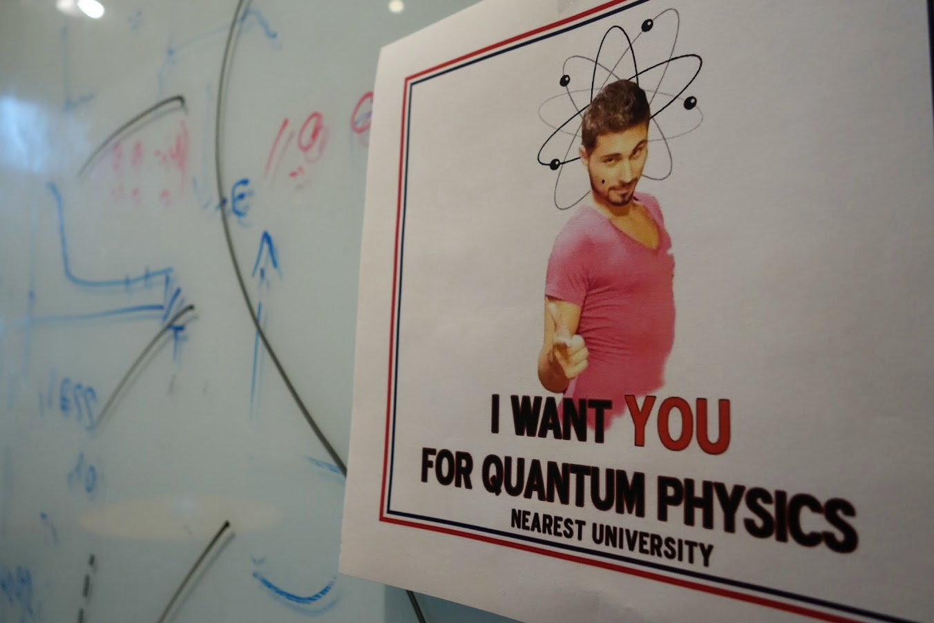 I want YOU for quantum physics