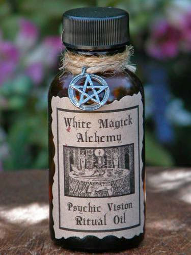 Psychic Vision Ritual Natural Perfume Oil 5 White Magick Alchemy Clairvoyance Psychic Awareness