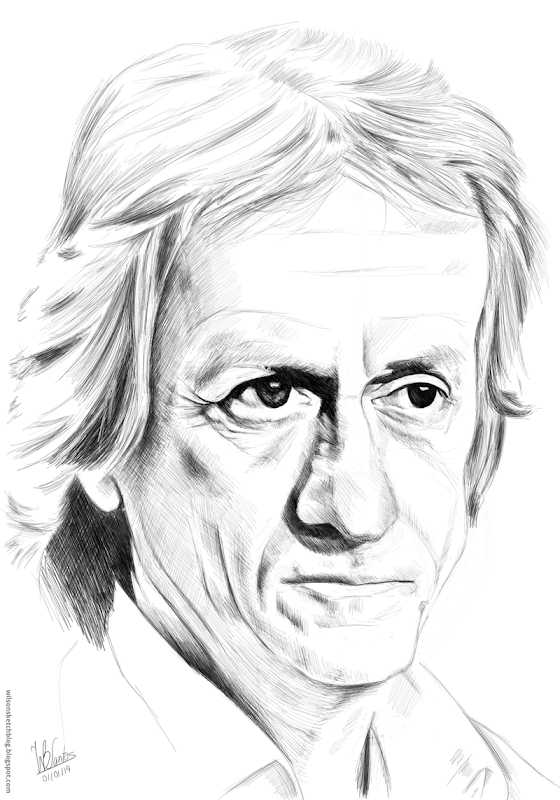 Caricature of Jorge Jesus, using Krita.