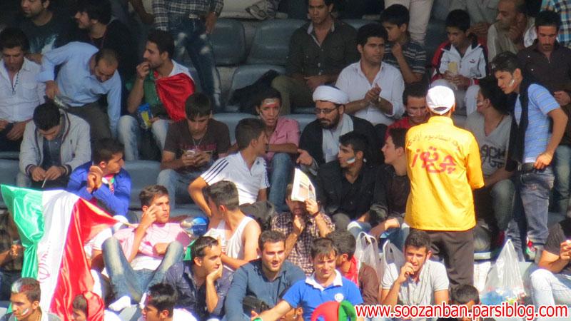 حضور روحانیون در ورزشگاه آزادی. بازی ایران و کره جنوبی