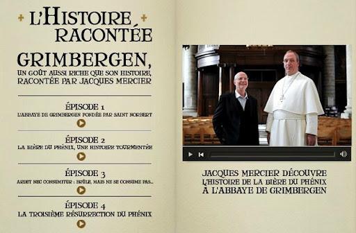 Bruselas Valonia: Página web de la cerveza de abadia Grimbergen: videos
