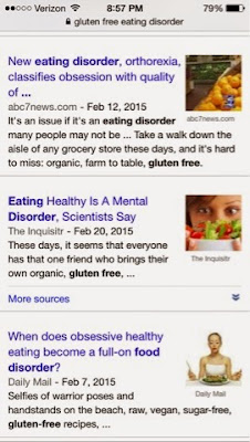 eating disorders food gluten free