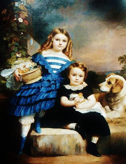 François-Joseph Navez - Two children and a dog