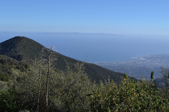 Montecito Peak and the Santa Barbara Harbor and Santa Cruz Island