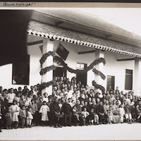 Superb Dedication Of The Hall For Prayers In The Hospital In Kayin 1930: Those  Present In