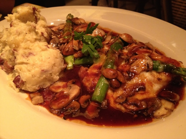 Chicken Madeira Dish at the Cheesecake Factory Dubai Mall