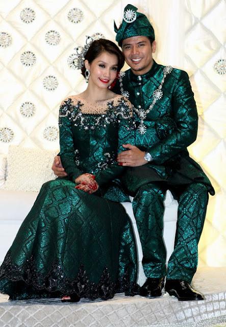 persalinan baju nikah kedua pernikahan awal dan scha